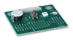 Demo pcb with LED+trimmer